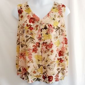 NWT, Roz & Ali Floral Top, Size 2 X